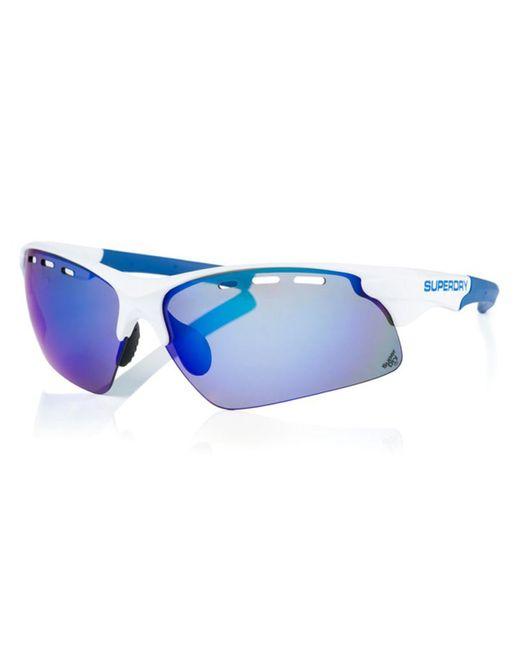 Superdry Blue Sds Sprint 105 Sunglasses White for men