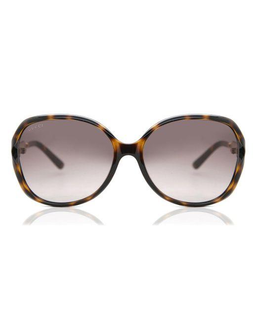 Gucci Brown GG0076S 003 Women's Sunglasses