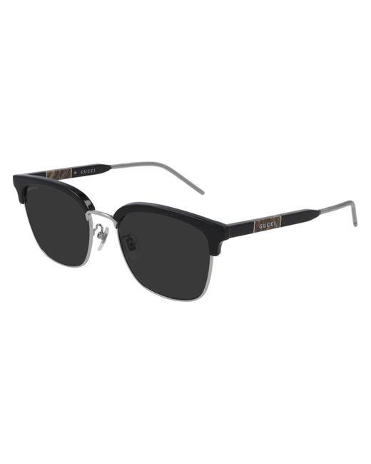 Gucci Black GG0846SK Asian Fit 001 Sunglasses for men