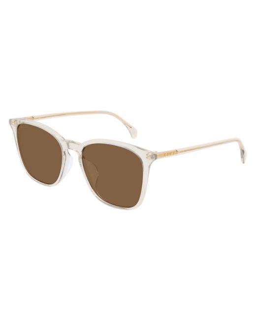Gucci Brown Ultralight Square Sunglasses for men