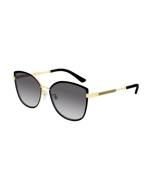 Gucci Black GG0589SK Asian Fit 001 Women's Sunglasses