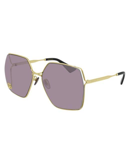 Gucci Metallic GG0817S 007 Women's Sunglasses