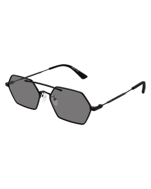 McQ Alexander McQueen Black Mq0227sa Asian Fit 001 Sunglasses for men