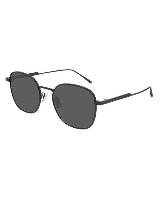 Bottega Veneta Black Bv1014sk Asian Fit 001 Sunglasses for men