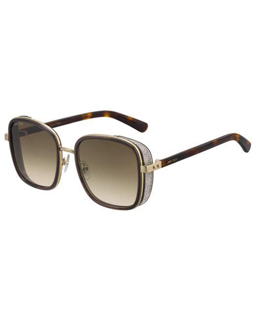 Jimmy Choo Brown Elva/s Fg4/ha Women's Sunglasses