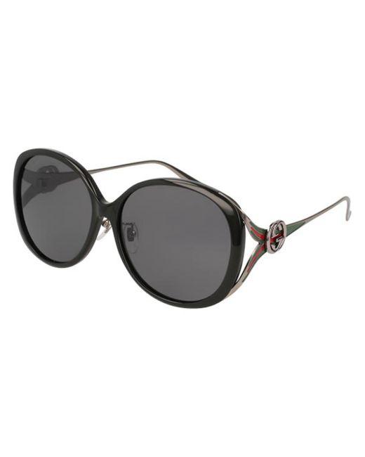 Gucci Black GG0226SK Asian Fit 002 Women's Sunglasses