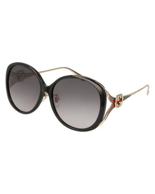 Gucci Black GG0226SK Asian Fit 001 Women's Sunglasses