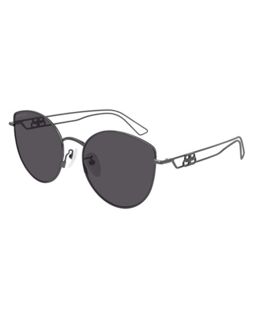 Balenciaga Gray Bb0059sk Asian Fit 001 Women's Sunglasses