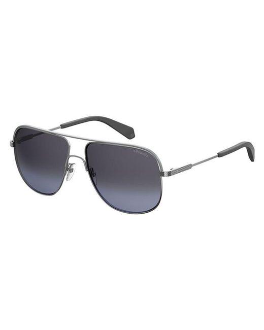 Silver Mirrored Sunglasses PLD2055 6LB POLAROID Polarized Metal Silver