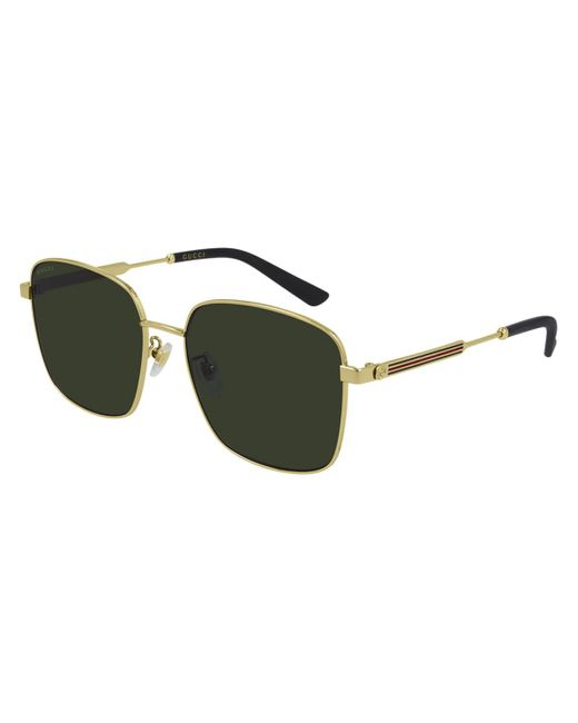 Gucci Metallic GG0852SK Asian Fit 001 Women's Sunglasses