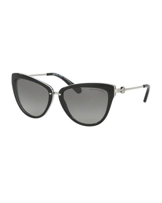 Michael Kors Women's Black Mk6039 Abela Iii Cat Eye-frame Sunglasses
