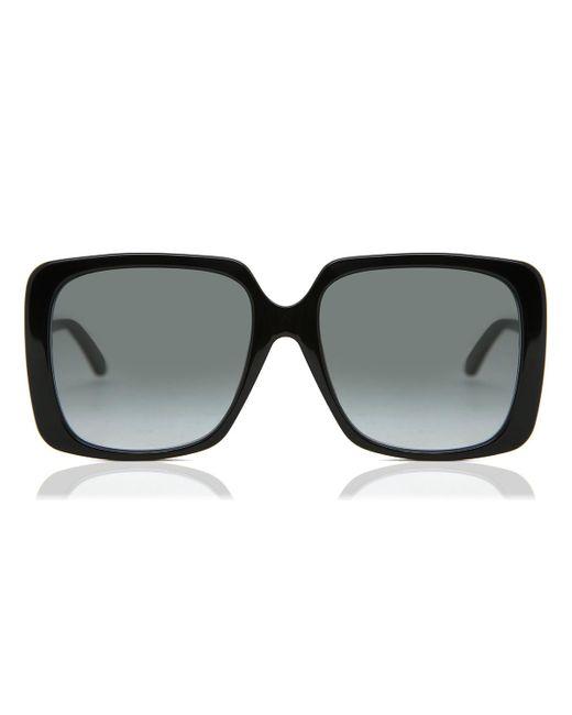 Gucci Black GG0728SA Asian Fit 001 Women's Sunglasses
