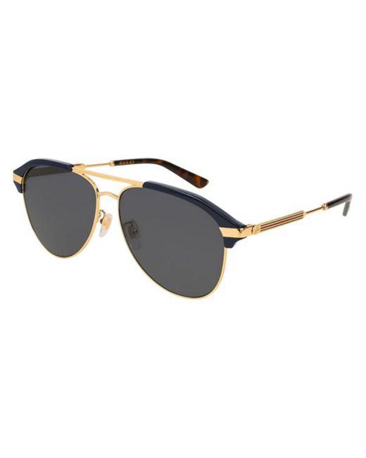 Gucci Black GG0288SA Asian Fit 001 Sunglasses for men
