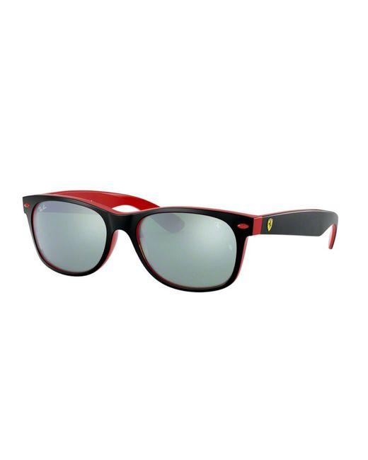 Ray Ban Rb2132m Ferrari F63830 Sunglasses Black For Men Lyst