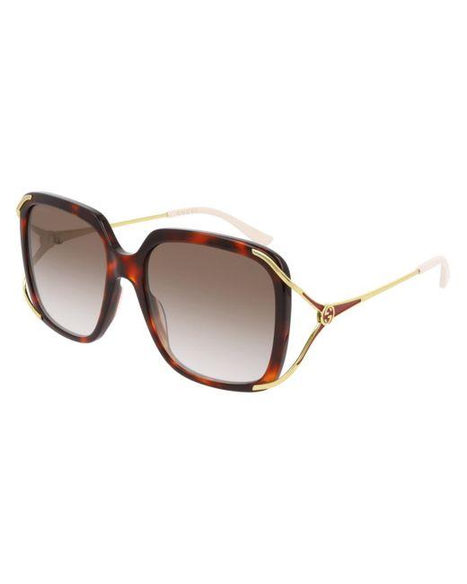 Gucci Brown GG0647S 002 Women's Sunglasses Tortoise