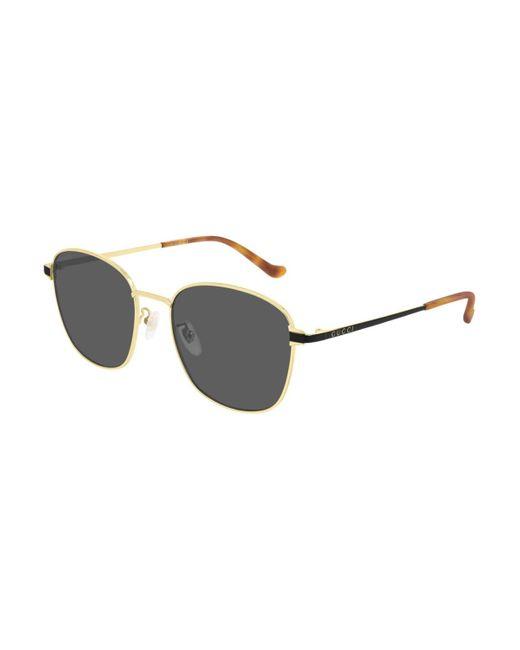 Gucci Metallic GG0575SK Asian Fit 001 Sunglasses for men