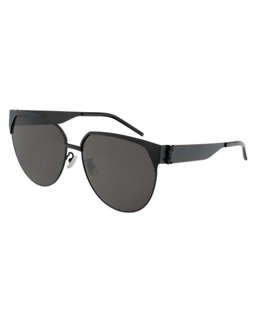 Saint Laurent Black Sl M43/f Asian Fit 001 Women's Sunglasses