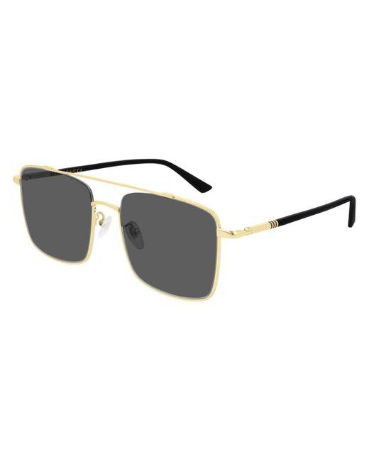 Gucci Metallic GG0610SK Asian Fit 001 Sunglasses for men