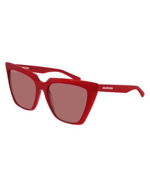 Balenciaga Bb0046s 004 Women's Sunglasses Red