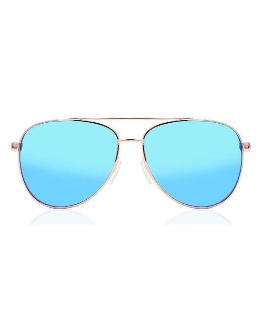Michael Kors Blue Mk5007 Hvar 104525 Women's Sunglasses Gold