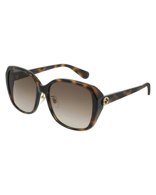 Gucci Brown GG0371SK 002 Women's Sunglasses Tortoise