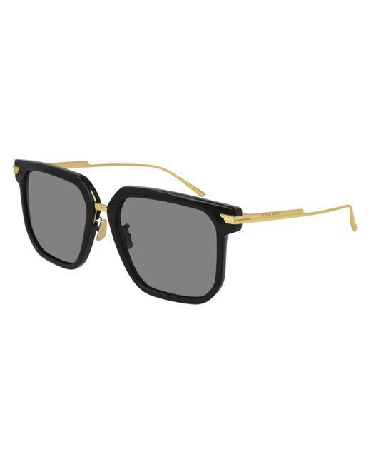 Bottega Veneta Black Bv1083sa Asian Fit 001 Women's Sunglasses