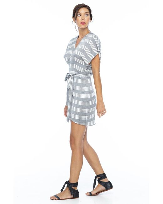 Indah Alexa Wrap Dress In Casablanca In Blue Lyst