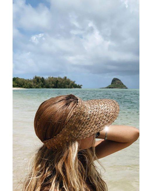 Acacia Swimwear Tai Swim Bali Sun Visor In Brown