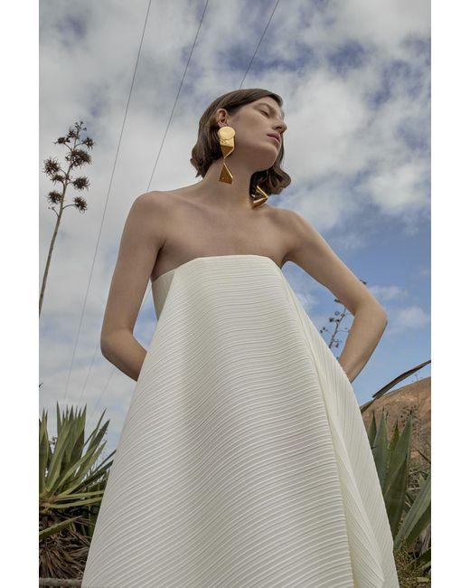 Lyst - Solace London Alette Dress Cream