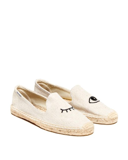 Soludos | Natural Wink Embroidery Smoke Slipper | Lyst