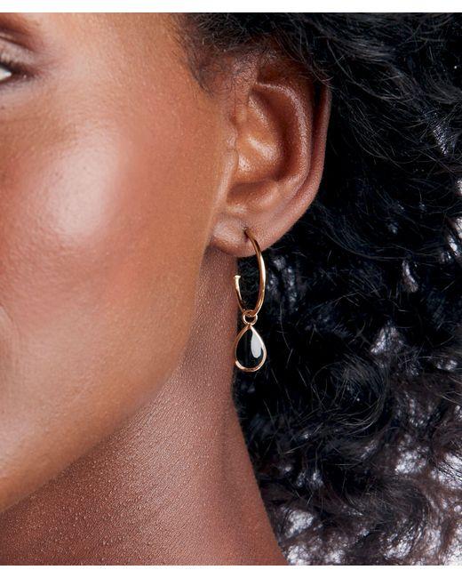 Sole Society Metallic Hoop Drop Earrings