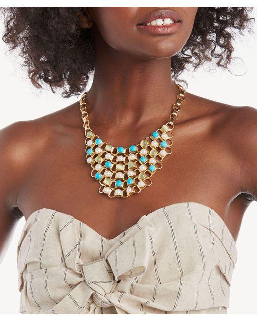 Sole Society Metallic Statement Necklace