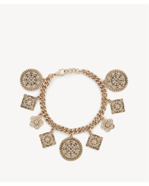 Sole Society - Multicolor Coin Charm Bracelet - Lyst