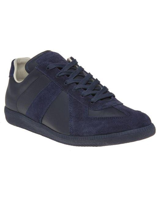 Lyst Maison Margiela Blue Replica Low Top Sneakers In