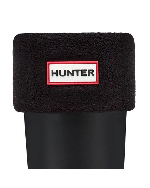 Hunter | Black Tall Fleece Welly Socks | Lyst