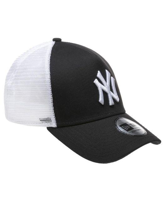e92a781c ... KTZ - Black New York Yankees Trucker Cap for Men - Lyst ...