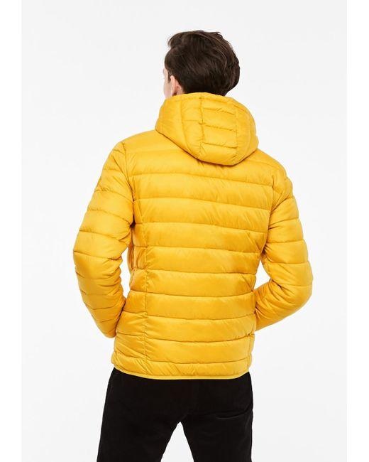 Q/S designed by Steppjacke in Light-Down-Optik in Yellow für Herren