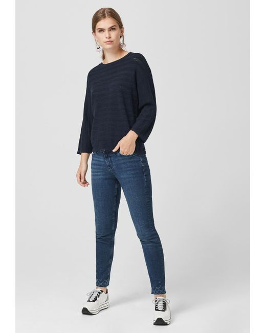 S.oliver Blue Pullover mit Ajourmuster