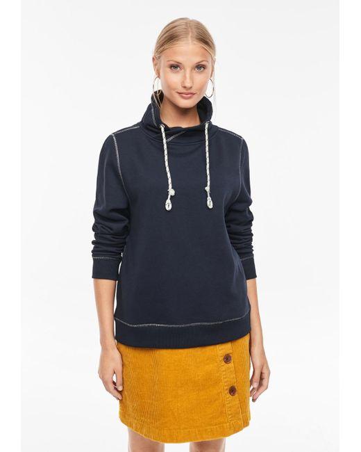 S.oliver Blue Sweatshirt mit Turtleneck