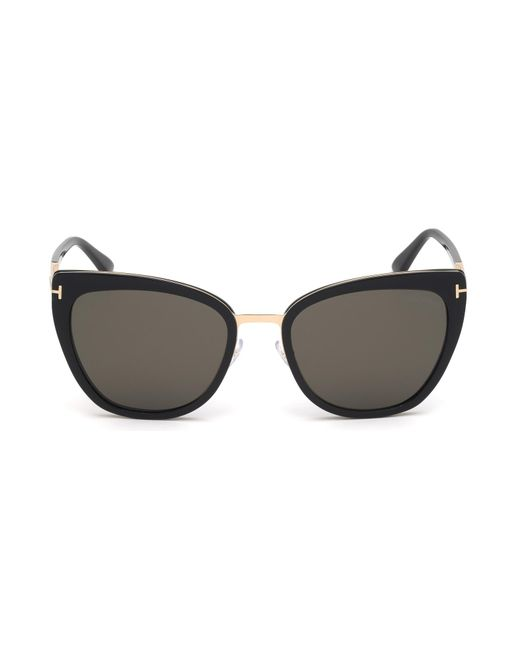 fbefa3a0bfe Lyst - Tom Ford 0717 Simona Cat Eye Sunglasses in Brown