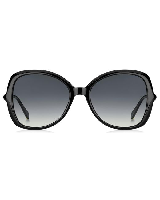 2d7298bfbee Lyst - Max Mara Ring Cat Eye Sunglasses in Black