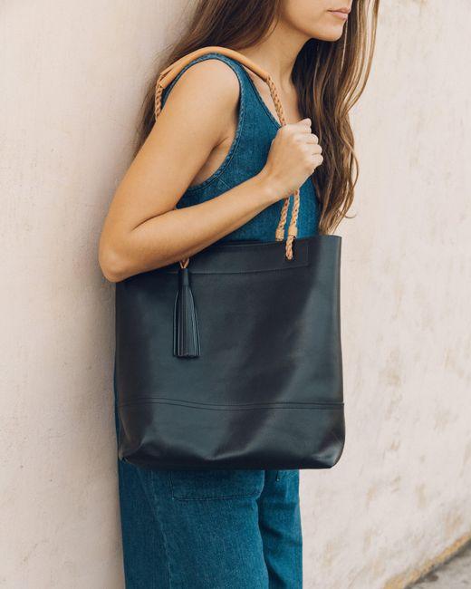 Soludos - Black Merida Leather Tote - Lyst