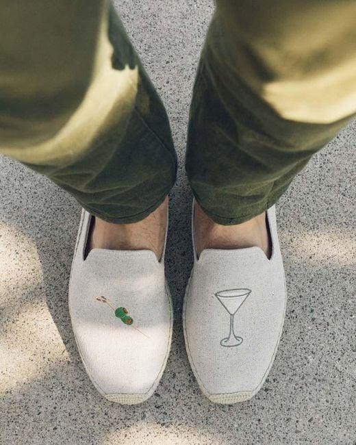 Soludos Gray Dry Martini Smoking Slipper for men