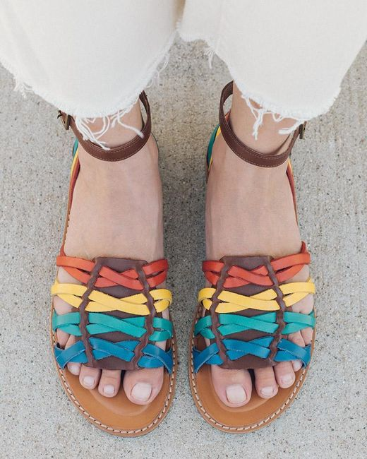 Soludos Multicolor Jenni Huarache Sandal