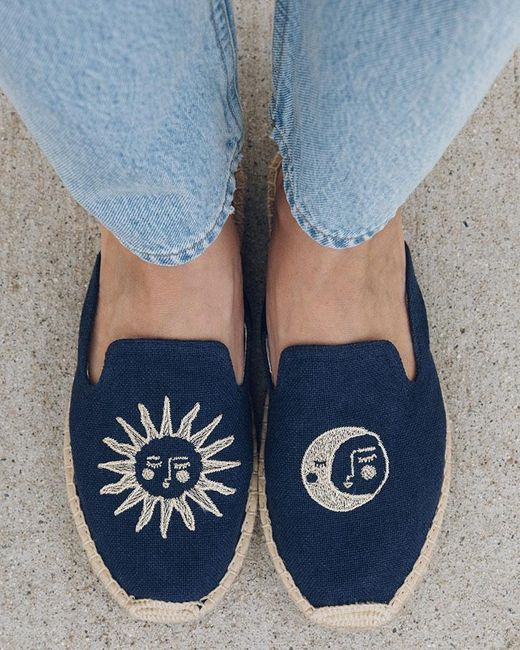 Soludos Blue Day And Night Espadrille Mule