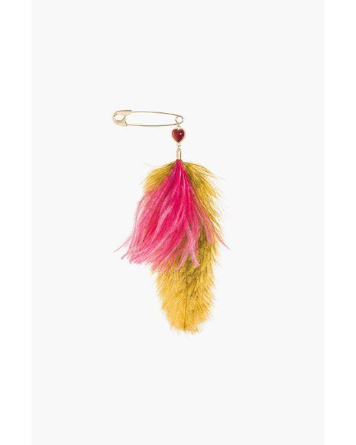 Sonia Rykiel   Multicolor Je De Cœur Feather Brooch   Lyst