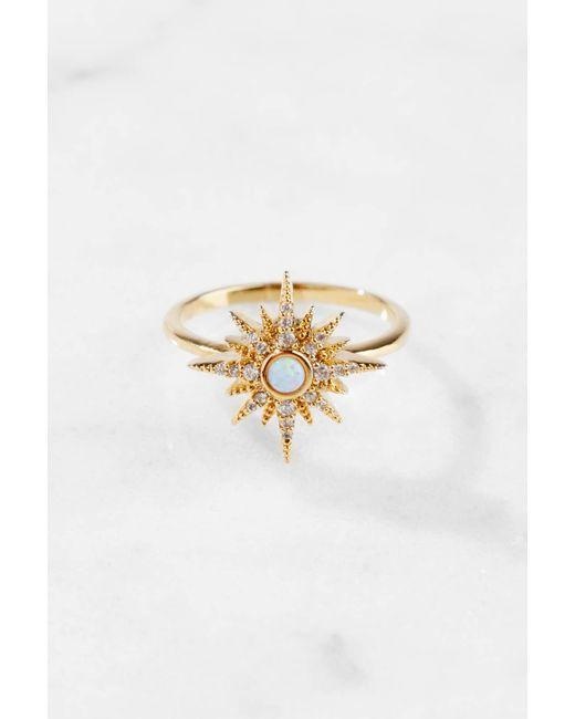 Tai | Metallic Gold Starburst Ring | Lyst