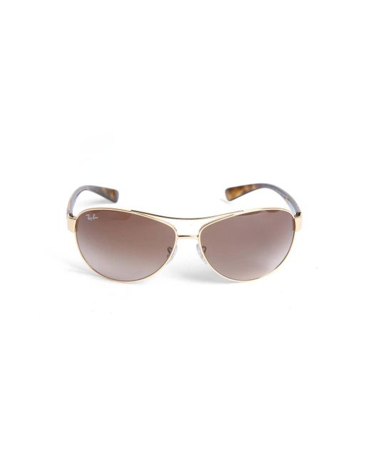 Ray-Ban - Metallic Plastic Temple Aviator Sunglasses - Lyst