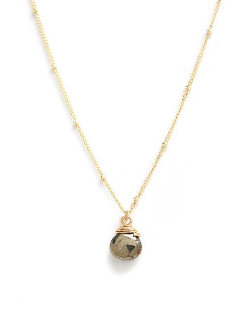 Lotus   Multicolor Pyrite Stone Trinket Charm Necklace   Lyst
