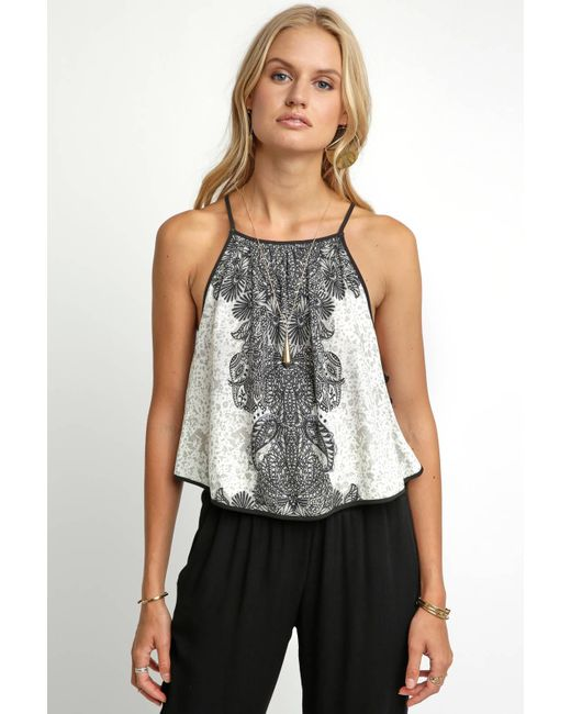 South Moon Under - White Break Free Printed Top - Lyst